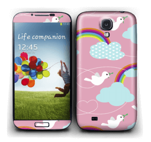 Peace, birds & rainbows Skin Galaxy S4