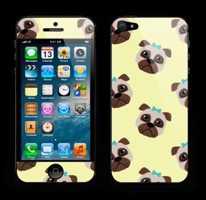 Unhappy pug Skin IPhone 5