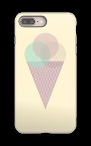 Jäätelö keltainen kuoret IPhone 8 Plus tough