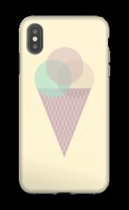Boules de glace Jaune Coque  IPhone XS Max tough