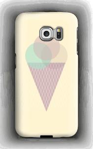 Jäätelö keltainen kuoret Galaxy S6 Edge