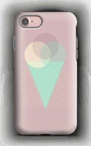 Jäätelö vanharoosa kuoret IPhone 7 tough