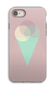 Pinkish Ice Cream case IPhone 8 tough