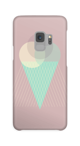 Eis auf Dunkelrosa Handyhülle Galaxy S9