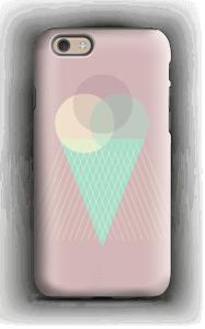 Jäätelö vanharoosa kuoret IPhone 6s tough