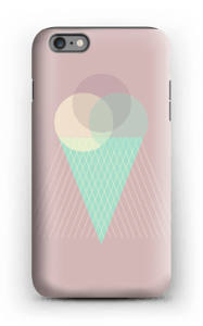 Jäätelö vanharoosa kuoret IPhone 6 Plus tough