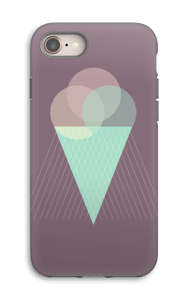 Purple Ice Cream case IPhone 8 tough