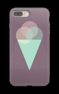 Jäätelö violetti kuoret IPhone 8 Plus tough