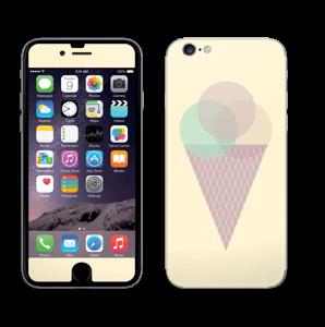 Jäätelö keltainen tarrakuori IPhone 6/6s
