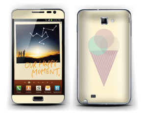 Sunny Yellow Ice Cream Skin Galaxy Note