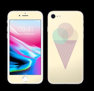 Jäätelö keltainen tarrakuori IPhone 8