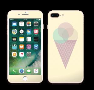 Jäätelö keltainen tarrakuori IPhone 7 Plus