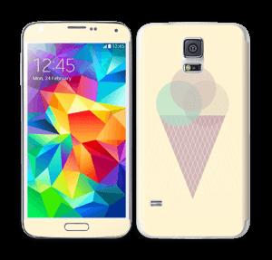 Jäätelö keltainen tarrakuori Galaxy S5