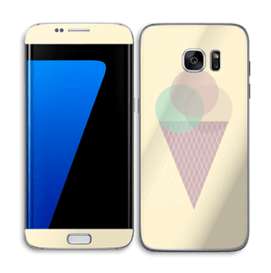 Yellow ice cream Skin Galaxy S7 Edge