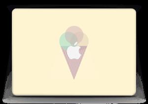 """Jäätelö keltainen tarrakuori MacBook Air 13"""""""