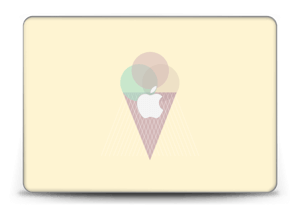 """Jäätelö keltainen tarrakuori MacBook Pro Retina 15"""" 2015"""