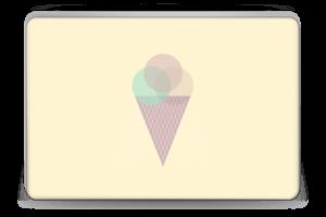 Jäätelö keltainen tarrakuori Laptop 15.6