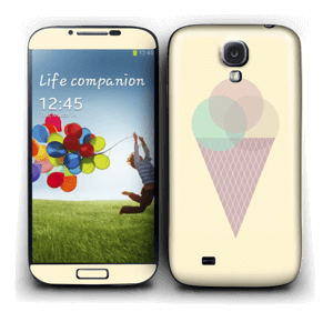 Yellow ice cream Skin Galaxy S4