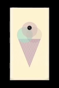 Jäätelö keltainen tarrakuori Nokia Lumia 920
