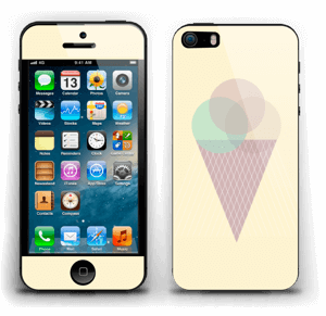 Sunny Yellow Ice Cream Skin IPhone 5s