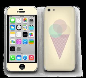 Jäätelö keltainen tarrakuori IPhone 5c
