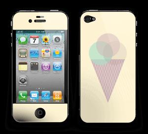 Jäätelö keltainen tarrakuori IPhone 4/4s
