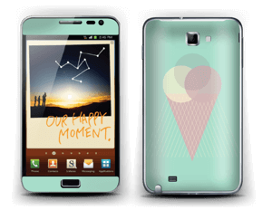 Mint Green Ice Cream Skin Galaxy Note