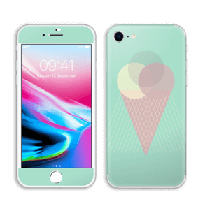 Jäätelö minttu tarrakuori IPhone 8