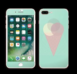 Jäätelö minttu tarrakuori IPhone 7 Plus