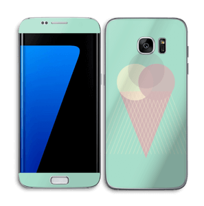 Minty green ice cream Skin Galaxy S7 Edge