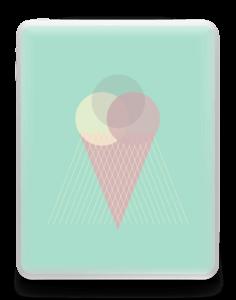 Jäätelö minttu tarrakuori IPad 1