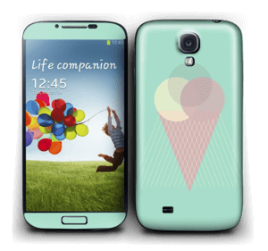 Jäätelö minttu tarrakuori Galaxy S4