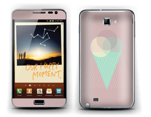 Pinkish Ice Cream Skin Galaxy Note