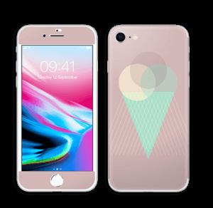 Jäätelö vanharoosa tarrakuori IPhone 8