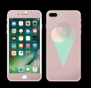 Jäätelö vanharoosa tarrakuori IPhone 7 Plus