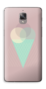Jäätelö vanharoosa tarrakuori OnePlus 3