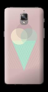 Jäätelö vanharoosa tarrakuori OnePlus 3T