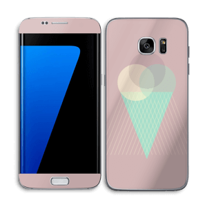 Pink ice cream Skin Galaxy S7 Edge