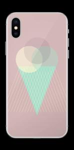 Jäätelö vanharoosa tarrakuori IPhone X
