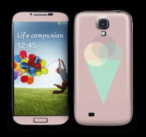 Pink ice cream Skin Galaxy S4