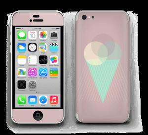 Jäätelö vanharoosa tarrakuori IPhone 5c