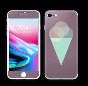 Jäätelö violetti tarrakuori IPhone 8
