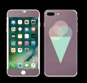 Jäätelö violetti tarrakuori IPhone 7 Plus