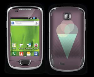 Jäätelö violetti tarrakuori Galaxy Mini