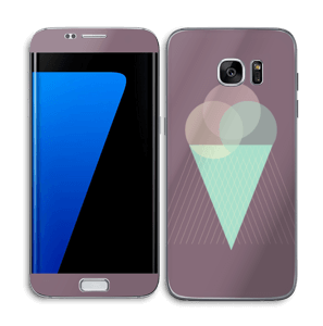 Purple ice cream Skin Galaxy S7 Edge