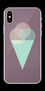 Jäätelö violetti tarrakuori IPhone X