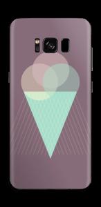 Jäätelö violetti tarrakuori Galaxy S8