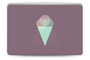 Purple Ice Cream Skin Laptop 15.6