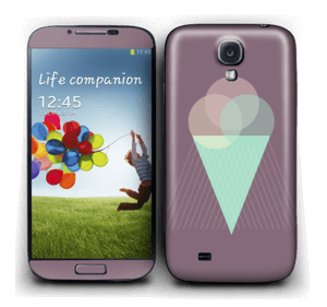 Purple ice cream Skin Galaxy S4