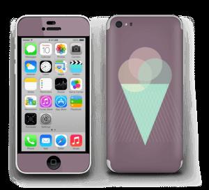 Jäätelö violetti tarrakuori IPhone 5c